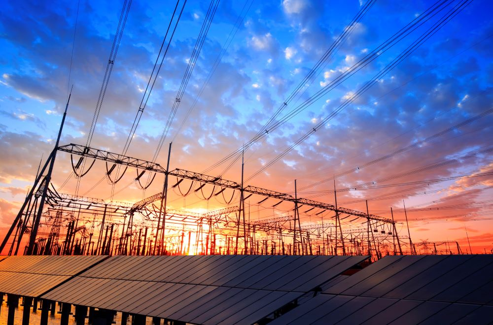 solar pv panels and substations